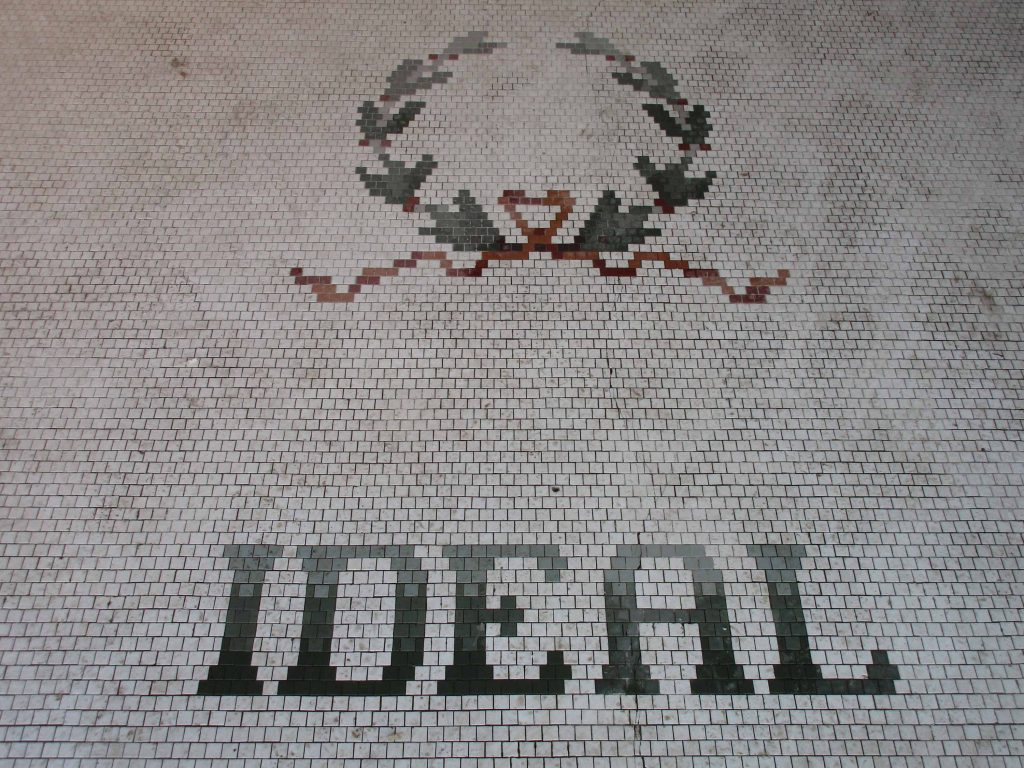 tile entry of Ideal Theatre