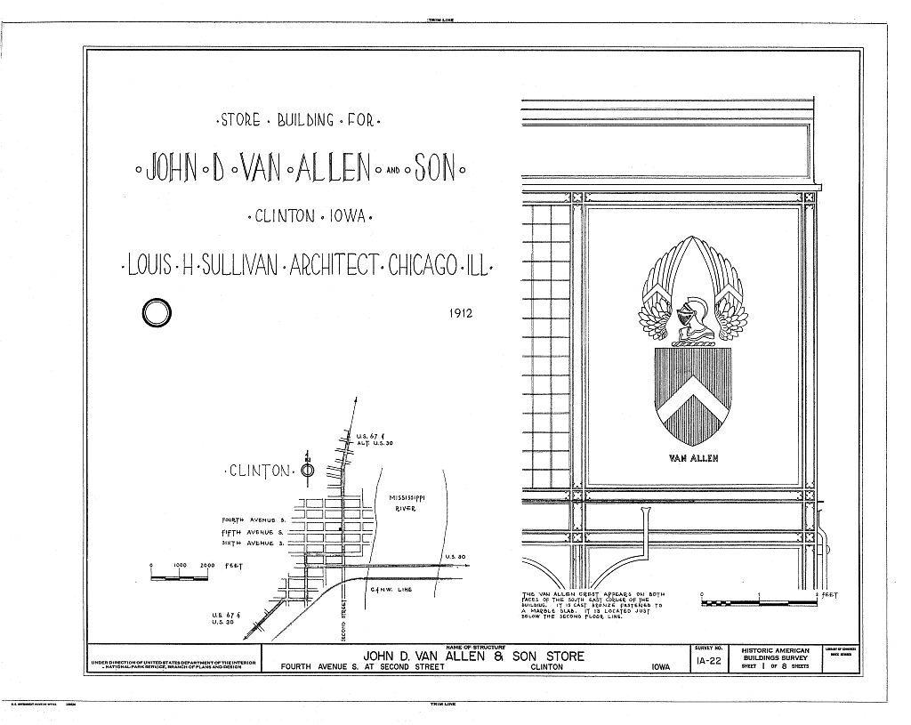 Van Allen Building embelm rendering