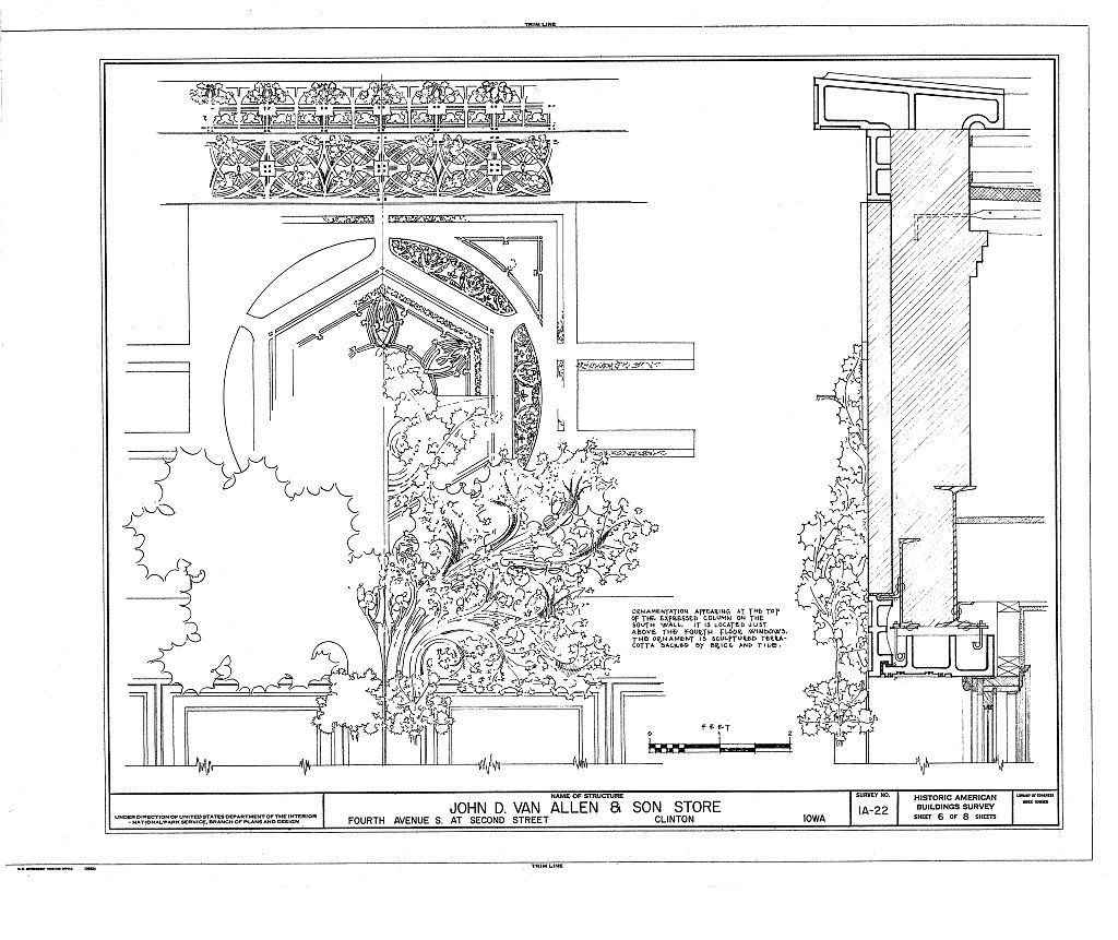 Van Allen Building finial rendering