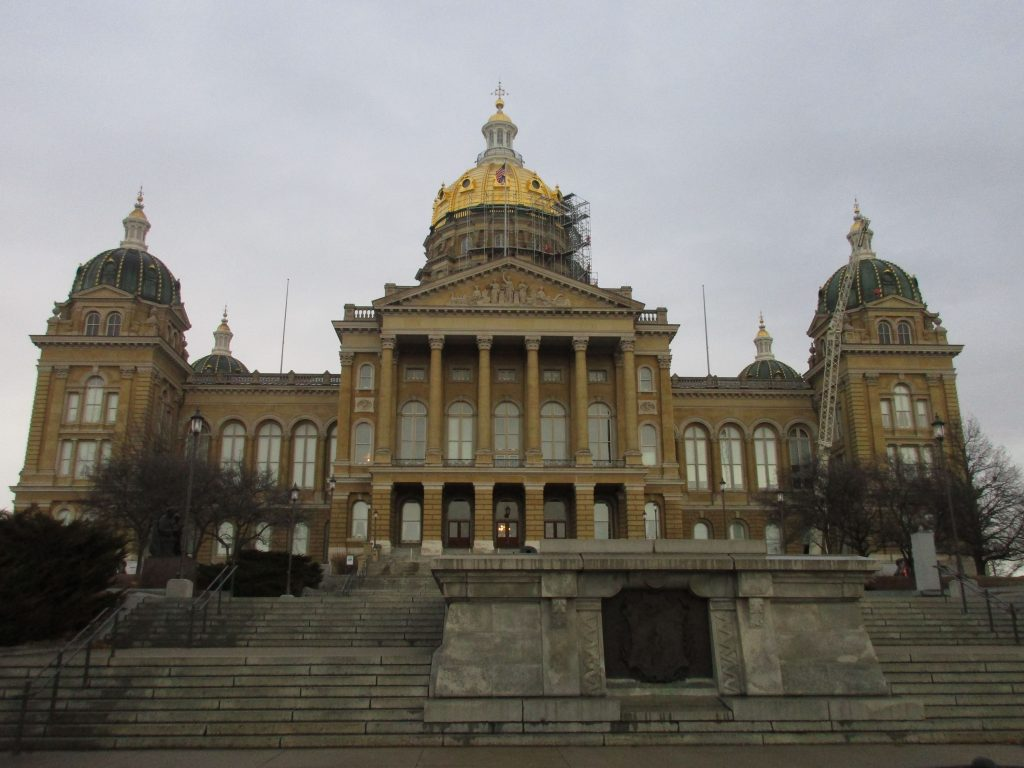 front of Iowa State Capitol