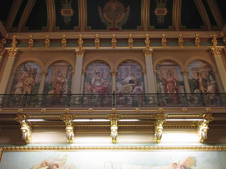 Iowa capitol mosaic panels