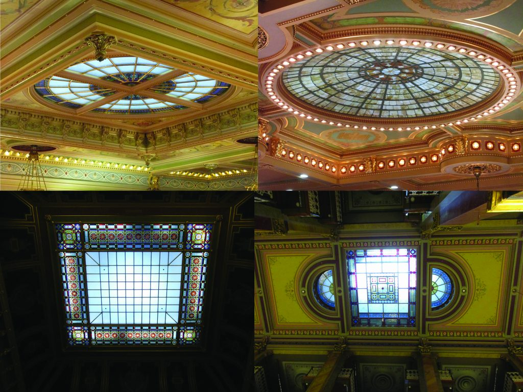 Iowa capitol stained glass ceilings