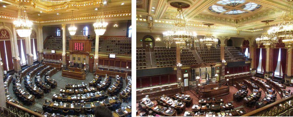 Iowa Senate and Representative Chambers