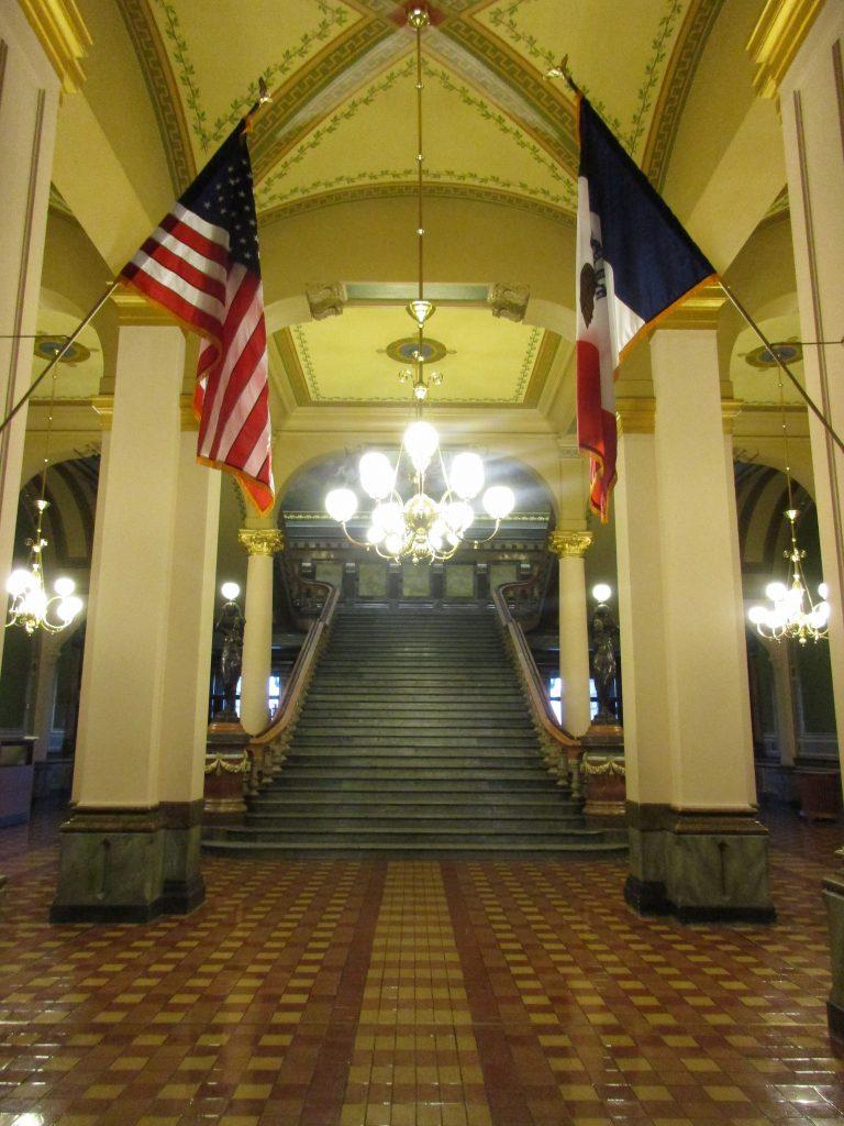 Iowa capitol grand staircase