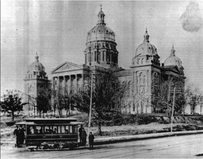 1880s photo of Iowa State Capitol exterior