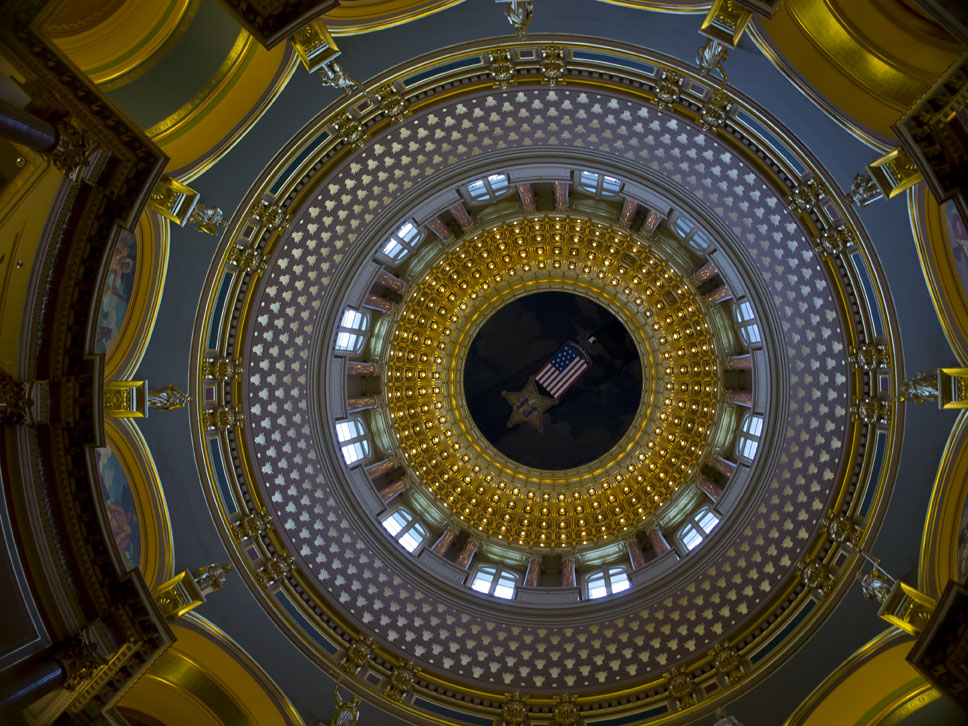 inside of Iowa capitol dome