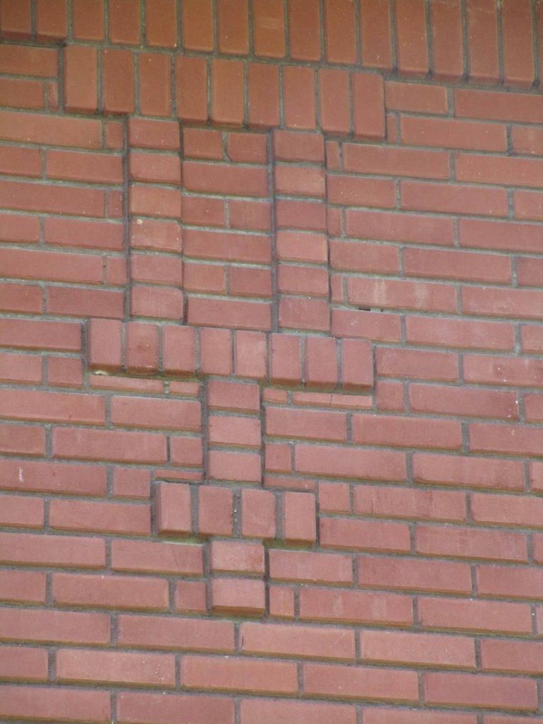 Brickwork on Prairie Style fire station, Cedar Rapids Iowa