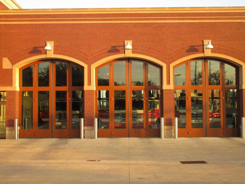 Fire station doors, Cedar Rapids Iowa