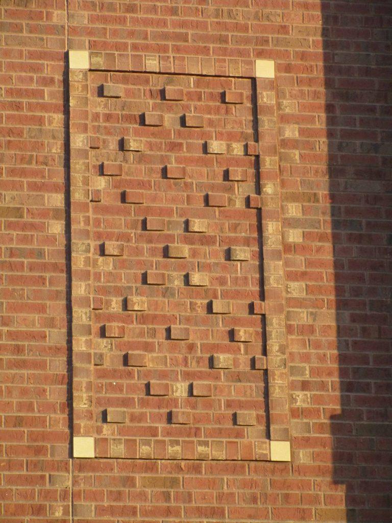 Brickwork on new fire station, Cedar Rapids Iowa