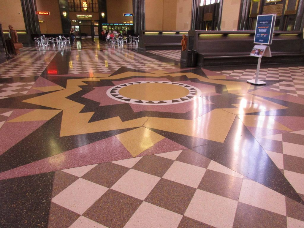 Terracotta floor, Union Station, Omaha