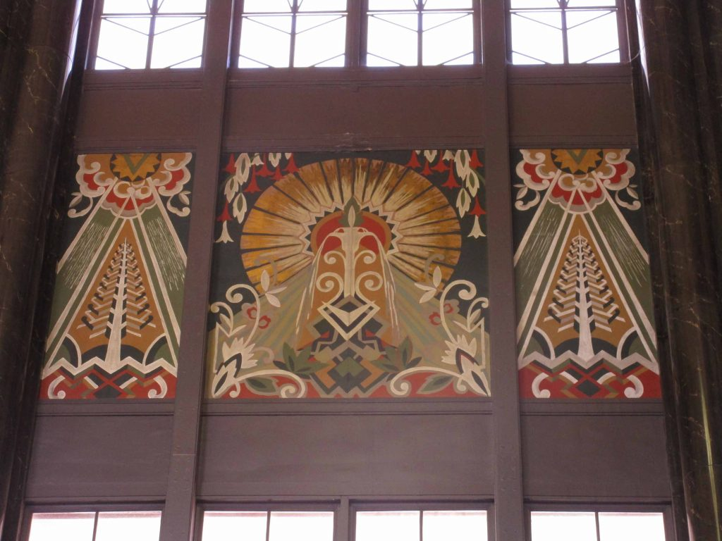 mural at Union Station, Omaha