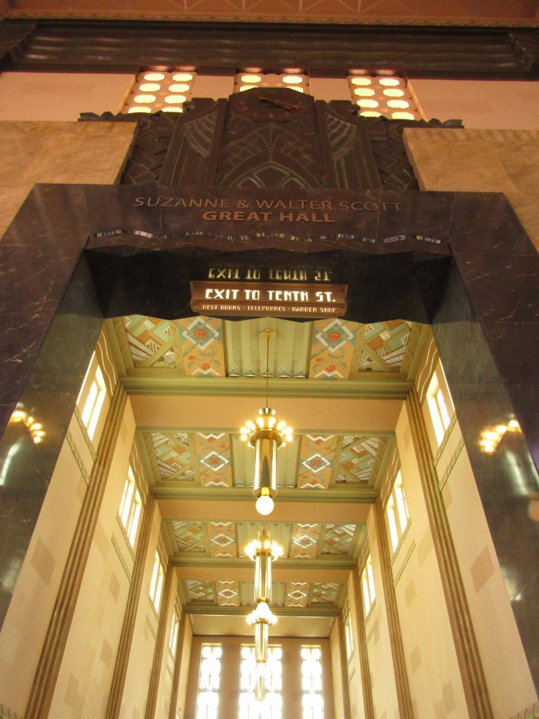 Art Deco interior of Union Station, Omaha