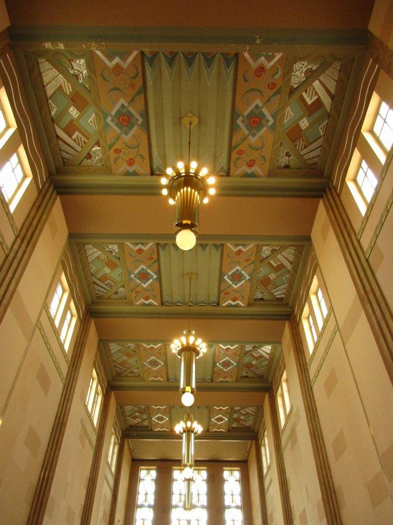Ceiling of Union Station, Omaha