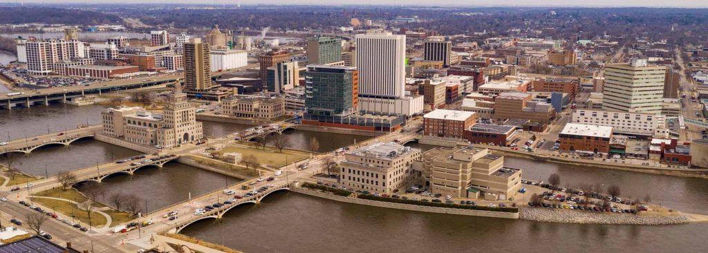 Aerial of Cedar Rapids, IA