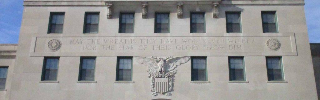 exterior of Veterans Memorial Building