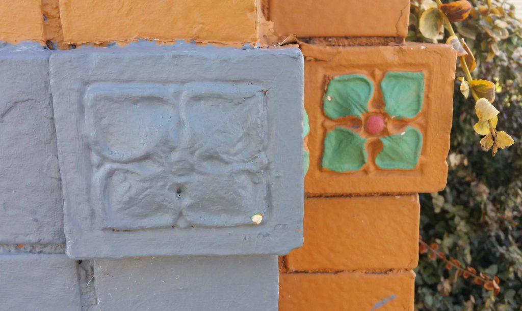 1930s flower tiles