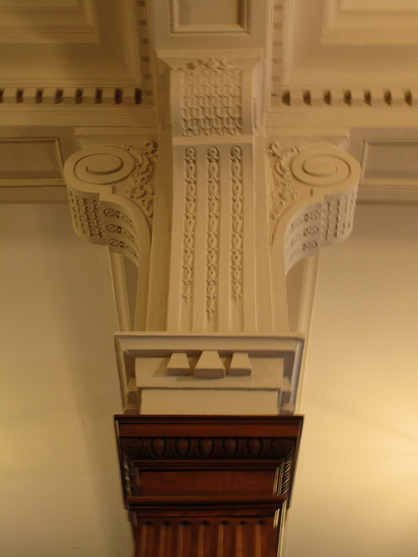 carved interior column
