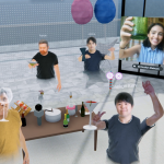 3D image of people in a virtual meeting